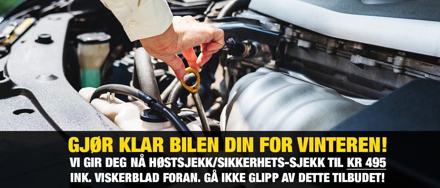 Gjør klar bilen din for vinteren!